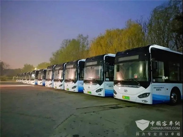105 Units Higer Electric Buses Start Operation in Rizhao