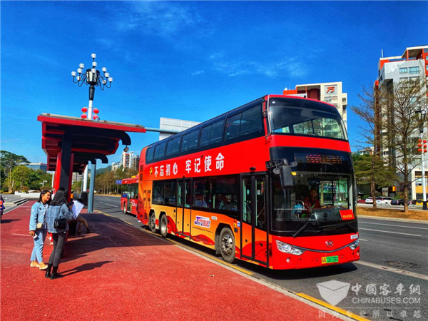 Ankai Double-deckers Ready to Serve Explosively Growing Tourists in Labor-day Holiday