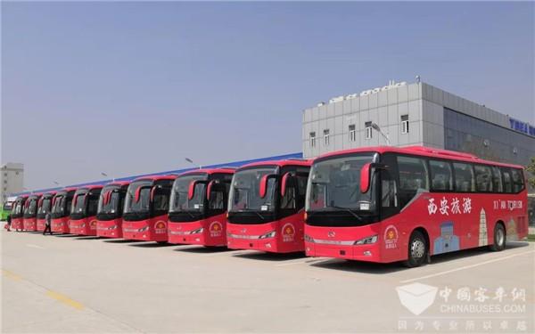 23 Units King Long Buses Serve at 2021 Xi'an International Marathon