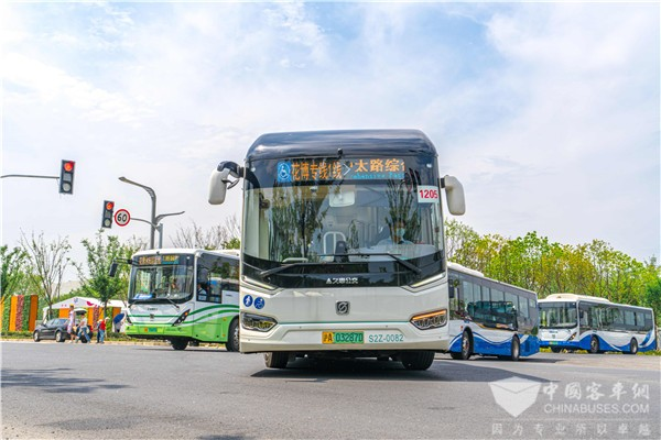 Sunwin Buses Serve at the 10th China Flower Expo