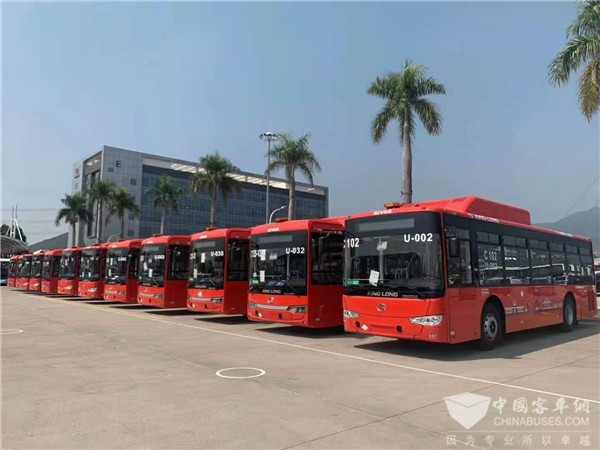 King Long China exports CNG Buses Equipped with Allison Automatics to Guadalajara City in Mexico
