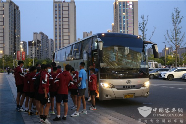 Higer Joins Hands with Suzhou Bus Operator to Serve 2022 Qatar World Cup Qualifying Competition