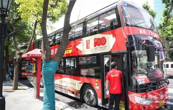 Ankai Double-deckers Start Serving Tourists in Shanghai