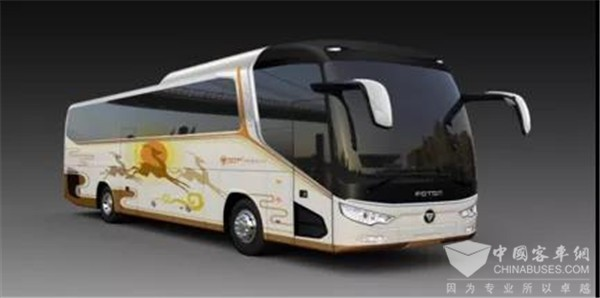 Foton AUV BJ6122 Intercity Bus Officially Makes its Debut
