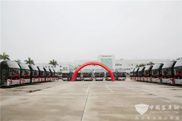 King Long Delivers 20 Units XMQ6135QY Buses to Tianjin Customer for Operation