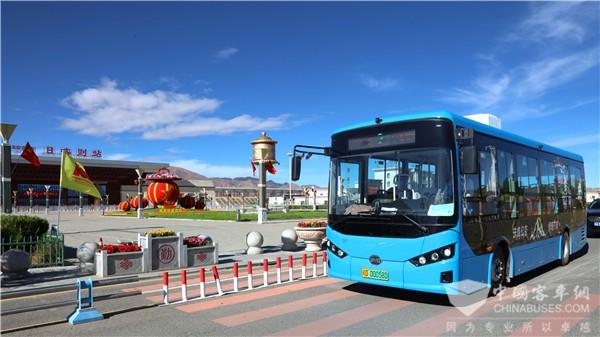 70 Units BYD B8 Electric City Buses Start Operation in Shigatse,Tibet