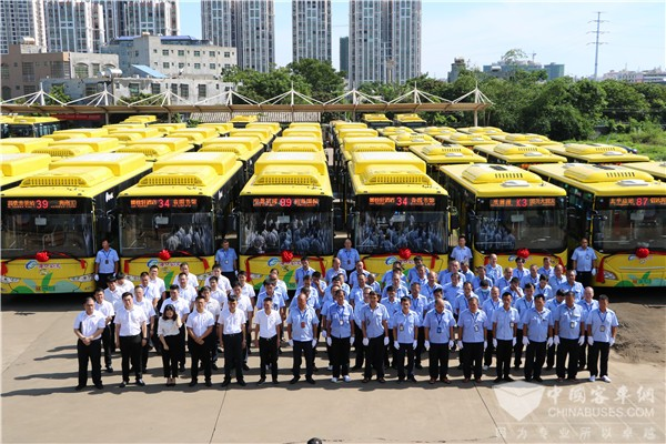 138 Units King Long Electric Buses Start Operation in Haikou