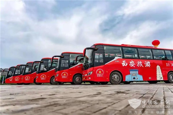 King Long Buses Serve Torch Relays for the 14th Chinese National Games