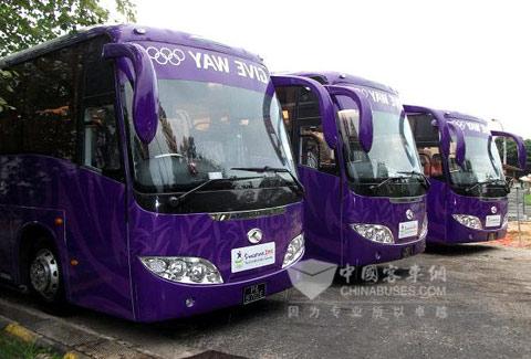 King Long Buses Serving YOG in Singapore