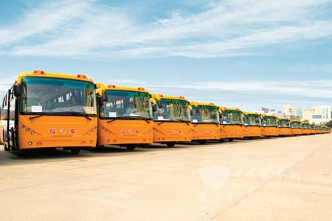 57 units of Xiamen golden dragon special school buses for protecting Wuxi rural primary students