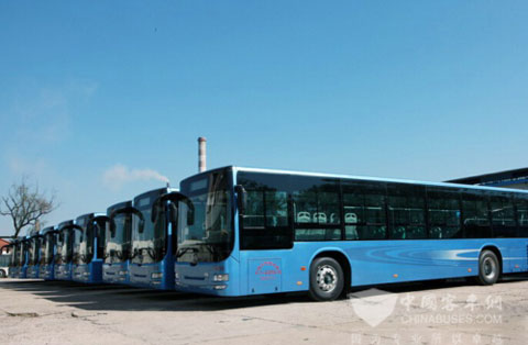 Huanghai Signs Contract of 591 Units of New Energy Buses