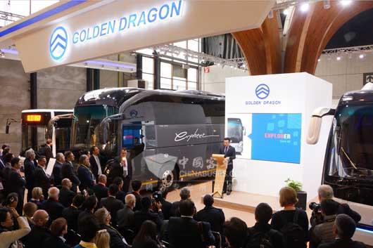 2015 Golden Dragon Busworld Press Conference Held at Kortrijk