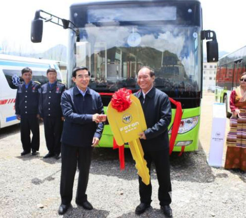 35 Fonton AUV New Energy Buses Rolled into Lhasa